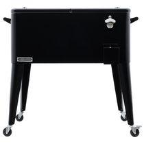Permasteel Patio Cooler 80QT - Black