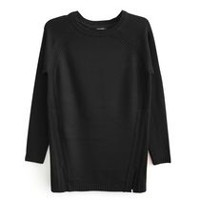 George Plus Women's Plus Size Pullover Sweater Black 1X