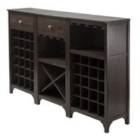 Winsome Ancona 3-Piece Wine Cabinet Modular Set in Espresso Finish - 92367