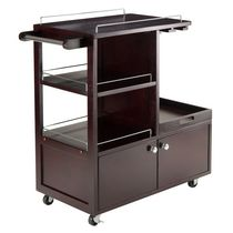 Winsome Galen Entertainment Cart with Serving Tray in Espresso Finish -92430