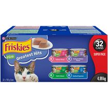 Friskies Pate Greatest Hits Variety Pack, Wet Cat Food 32 X 156g