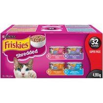 Friskies Shredded Super Pack, Wet Cat Food 32 X 156g