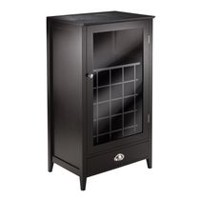 Winsome Bordeaux Wine Cabinet 25-Bottle Slot Modular in Espresso Finish - 92455