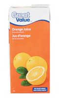 Great Value Orange Juice