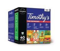 Timothy's® Coffret pause-café capsules K-Cup® recyclables de Keurig®