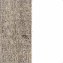 Weathered Oak and Pure White