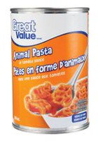 Pâtes animaux en sauce tomate de Great Value