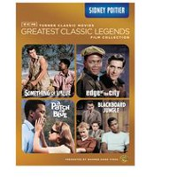 TCM Les Grandes Légendes Du Cinéma Collection De Films : Sidney Poitier - Something Of Value / Edge Of The City / A Patch Of Blue / Blackboard Jungle