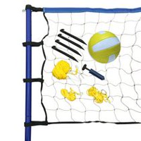 Ensemble portatif de volleyball de Hathaway - comprenant filet, poteaux, ballon et pompe