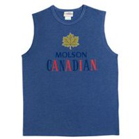 Molson Canadian Men's Crew Neck Muscle Tee XXL