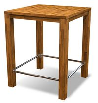 Chicago Bar Table 35 in L x 35 in W x 38 in H Acacia Wood  by Interbuild Canada