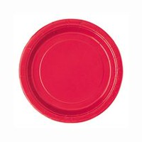 "Unique Party Favors Ravishing Red 9"" Plates"