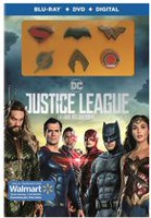 Justice League (Blu-ray + DVD + Digital + 6 Character Pins) (Walmart Exclusive) (Bilingual)