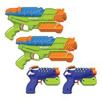 Adventure Force Aqua Squad 4-Pack Water Blaster Value Set