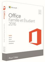 Microsoft Office for Mac Home and Student 2016 - French