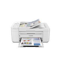 Imprimante à jet d'encre couleur sans fil Canon PIXMA TR4522 pour petit bureau (blanc)