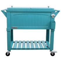 Permasteel Furniture Style Cooler 80QT - Teal