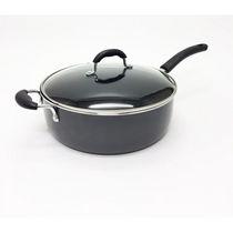 "Starfrit Deep Pan 12"" 7.2 Quart with black matt exterior + lid"