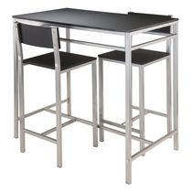 Winsome Hanley 3-Piece High Table with 2 High Back Stools - 93336
