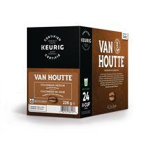 Van Houtte® Colombien mi-noir en capsules K-Cup® recyclables, torréfaction moyenne, 24 unités, pour les cafetières une tasse à la fois
