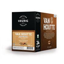 Van Houtte Vanille noisettes en capsules K-Cup recyclables, torréfaction légère, 24 unités, pour les cafetières une tasse à la fois