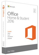 Microsoft Office for Mac Home and Student 2016 - English