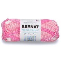 Bernat Handicrafter Cotton Stripes Yarn, Natural Stripes, 1.5oz(43g), Medium, Cotton