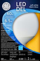 General Electric 6.5W Soft White LED Bulb G25 - 1 Pack