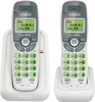 Vtech CS6114-2 White Two Handset Cordless Phone
