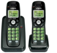 Vtech CS6114-21 Black Two Handset Cordless Phone with Caller ID