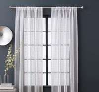 "hometrends TearDrop Sheers 84"" Rod Pocket Window Curtain Panel"