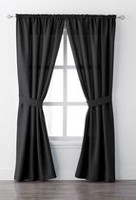 "Mainstays Bennett 84"" Rod Pocket Window Curtain Drapery Panel Set"