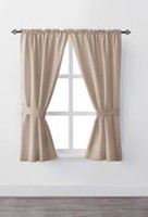 "Mainstays Bennett 63"" Rod Pocket Window Curtain Drapery Panel Set"
