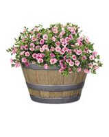 "hometrends Decorative 15.5"" Whiskey Barrel Planter"