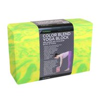 Bloc de yoga Zenzation Athletics en mélange de couleur de 3 x 6 x 9 po