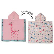 FlapJackKids - Reversible Kids Cover Up - Giraffe / Zoo - Quick Dry - UPF 50+