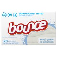 Bounce Fabric Softener Dryer Sheets Free & Gentle