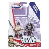 Star Wars Galactic Heroes Resistance Rey (Jakku) & Captain Phasma Action Figures