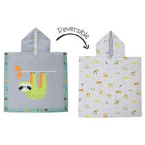 FlapJackKids - Reversible Kids Cover Up - Sloth / Zoo - Quick Dry - UPF 50+