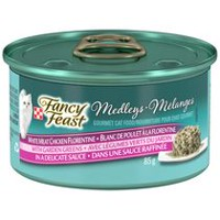 Purina(MD) Fancy Feast(MD) Medleys(MD) Blanc de Poulet à la Florentine Nourriture pour Chats