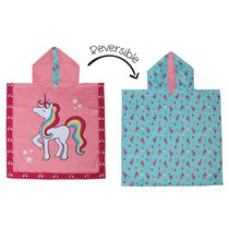 FlapJackKids - Reversible Kids Cover Up - Unicorn / Tropical - Quick Dry - UPF 50+