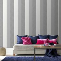 Graham & Brown Java Stripe Wallpaper Grey