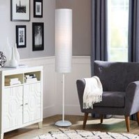 Paper Shade Floor Lamp White Paper shade