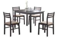 Monarch 5 Piece Corey Cappuccino Dining Set