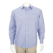 George Men's Wrinkle-Resistant Dress Shirt Light Blue S/P