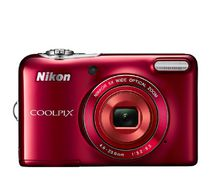 Nikon Red CoolPix L32 Digital Camera with 20.1 Megapixels and 5x Optical Zoom, Red