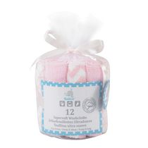 Kidilove Supersoft Pink Baby Wash Cloth