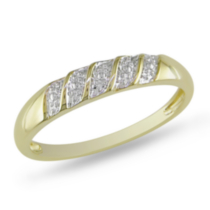 Miabella Men's Diamond Illusion Wedding Band in 10 KT Yellow Gold 12