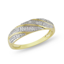 Miabella 1/10 ct Diamond Men's Wedding Band in 10 K Yellow Gold 12