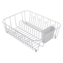 Rubbermaid Dish Drainer, White Wire, Large